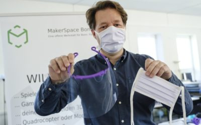 iPRODUCE partner Makerspace Bonn establishes a COVID-19 task force