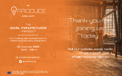 iPRODUCE organised its online event: The Social Manufacturing Paradigm